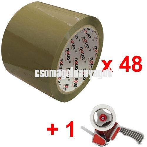 Ragasztószalag barna, HB 75 mm (csomagban)
