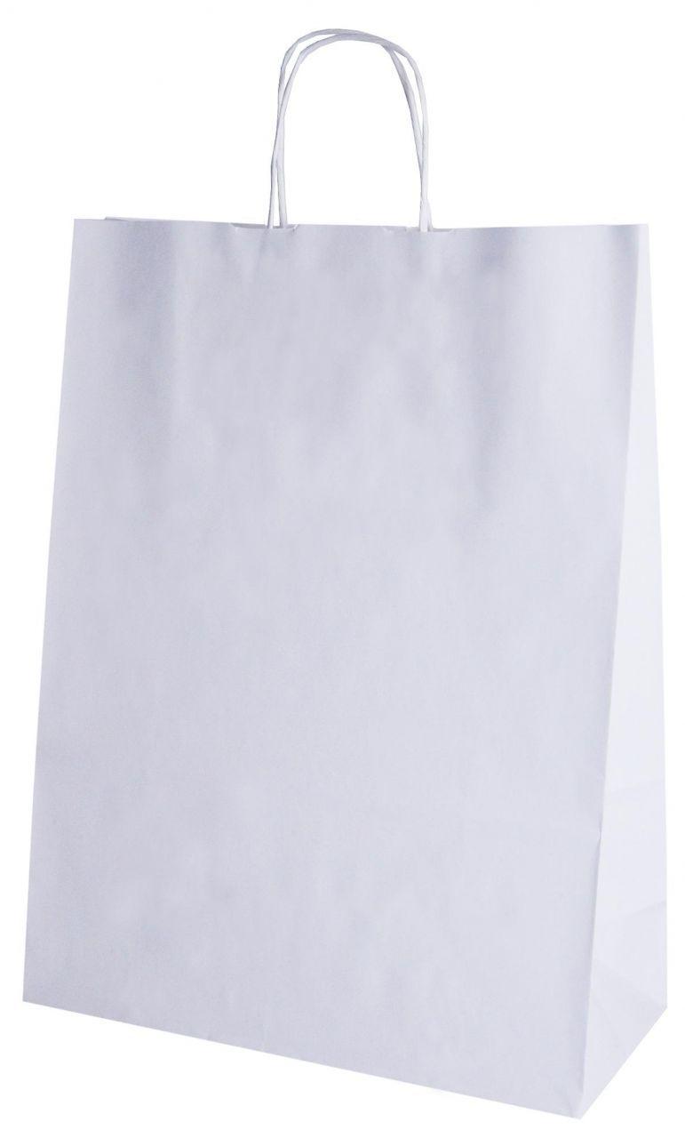 Sodrottfüles papírtáska,400x160x450 mm,fehér