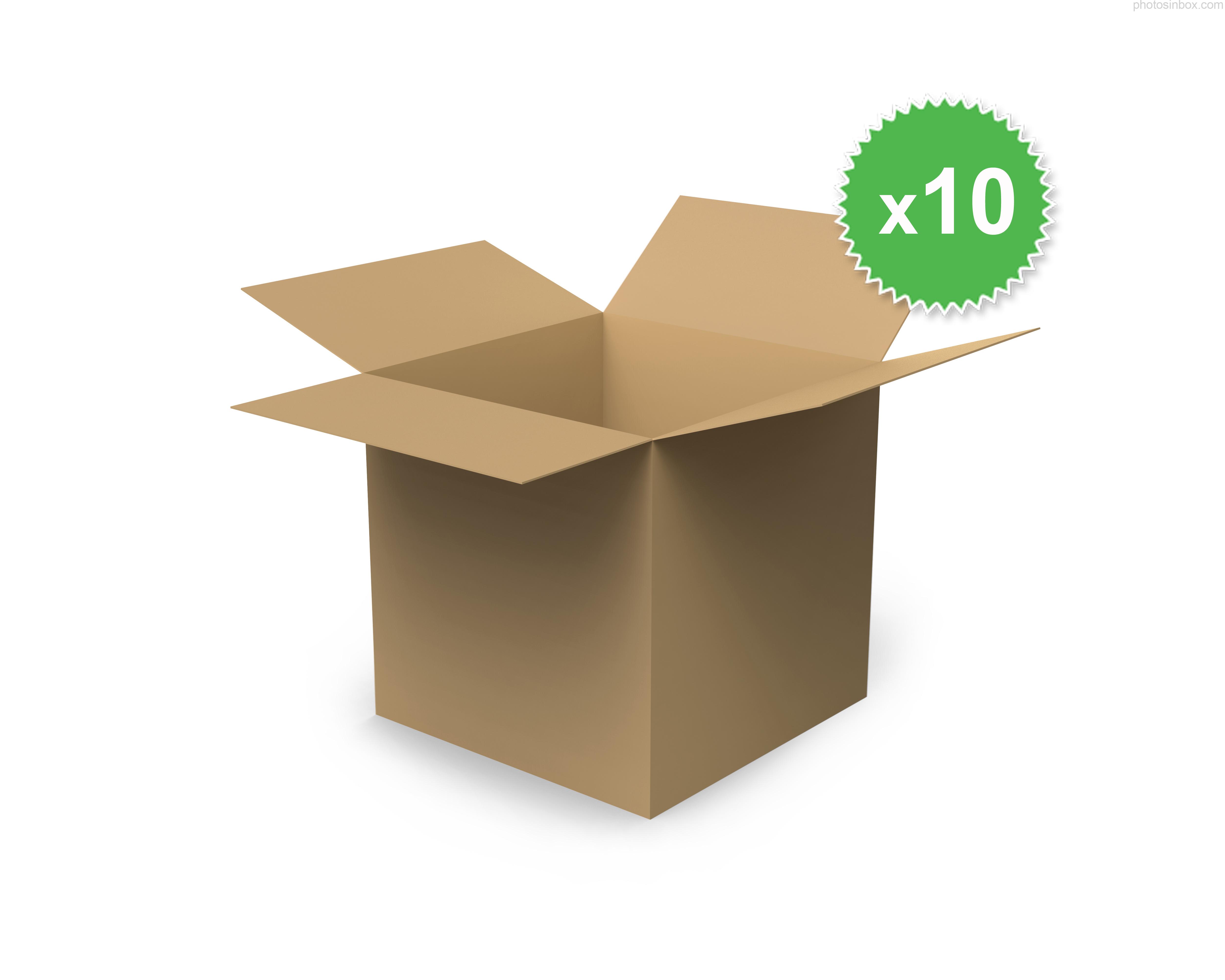 hullampapír doboz tetőfenék lapolt kivitel 3 rétegű 230x230x260 mm