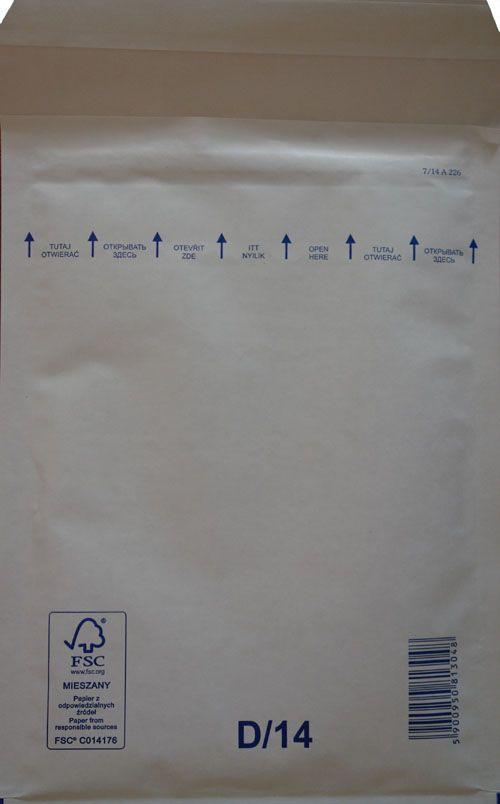 Légpárnás Boríték D/14 Fehér Légpárnás tasak (100 db/doboz)