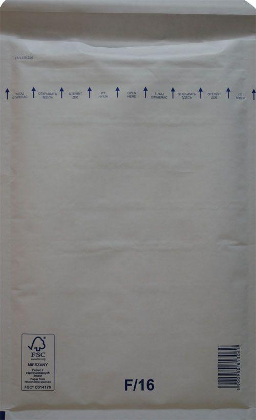 Légpárnás Boríték F/16 Fehér Légpárnás tasak (100 db/doboz)