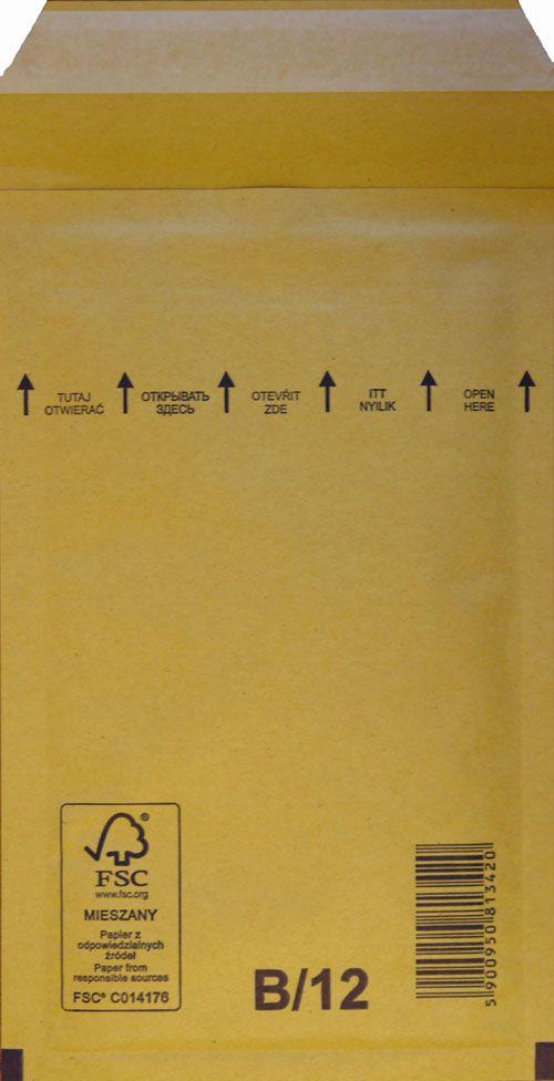 Légpárnás Boríték B/12 Barna Légpárnás tasak (200 db/doboz)
