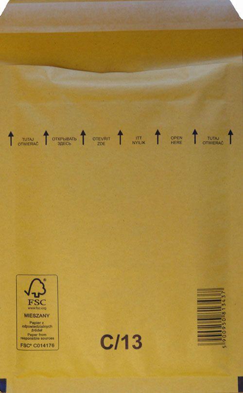 Légpárnás Boríték C/13 Barna Légpárnás tasak (100 db/doboz)