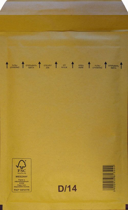 Légpárnás Boríték D/14 Barna Légpárnás tasak (100 db/doboz)