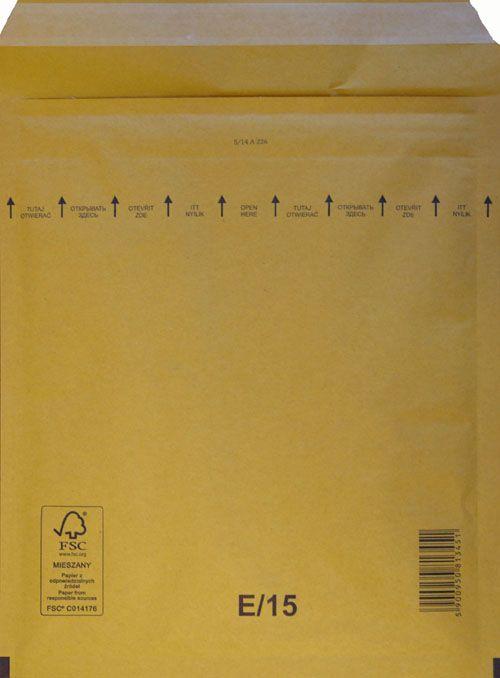 Légpárnás Boríték E/15 Barna Légpárnás tasak (100 db/doboz)