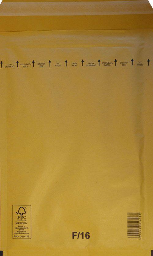 Légpárnás Boríték F/16 Barna Légpárnás tasak (100 db/doboz)