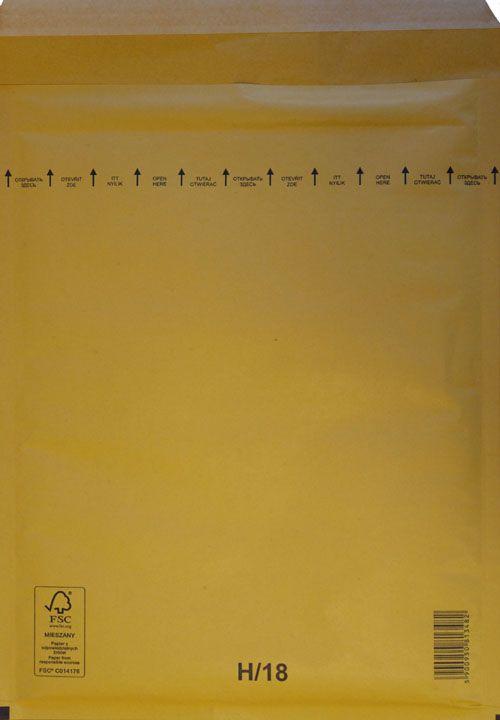 Légpárnás Boríték H/18 Barna Légpárnás tasak (100 db/doboz)