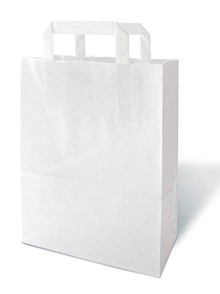 Topcraft Szalagfüles papírtáska,220x105x280 mm,fehér