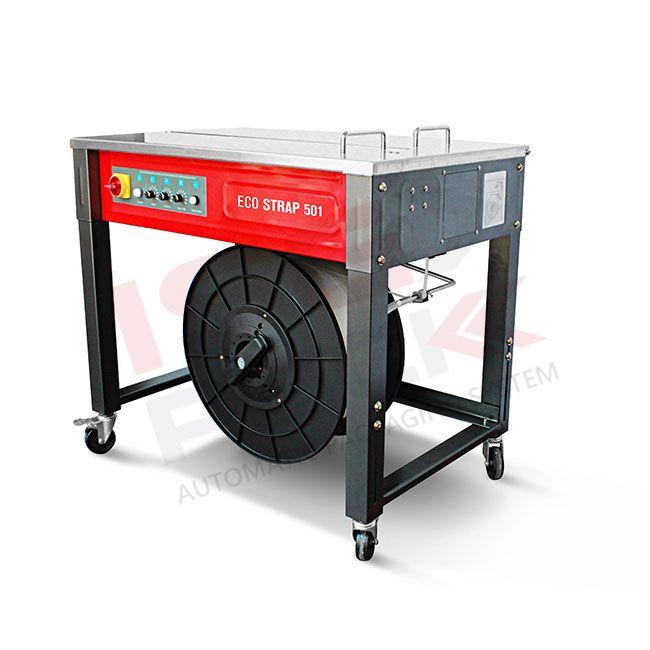 Félautomata asztali pántológép ( Ekostrap 502 )