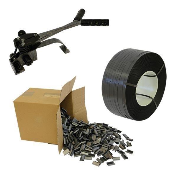 16 mm-es kézi pántolószalag csomagban ( 1 Gép + 1 Szalag + 1 doboz pánthüvely )